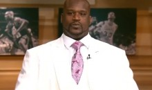 Shaq Wore a Breathtaking White Three-Piece Suit on TNT Last Night (Video)