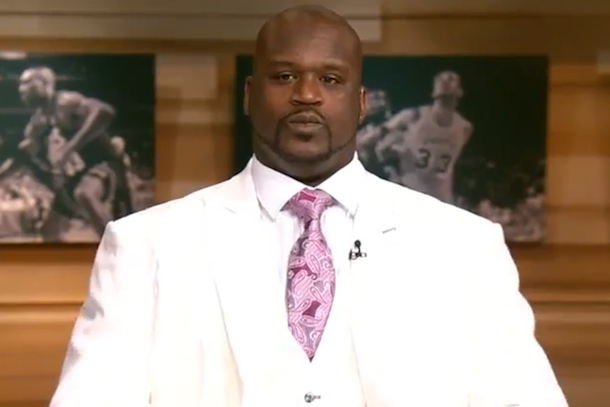 shaq crazy white suit