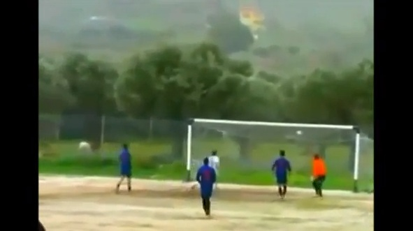 soccer four posts one shot