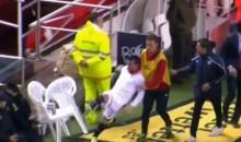 Sevilla's Gary Medel Kicks Chair at Police Officer During Copa del Rey Loss (Videos)