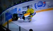 Swiss Hockey Player Ronny Keller Paralyzed After Being Checked Into Boards (Video)