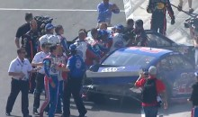 NASCAR Fight: Joey Logano Brawls with Tony Stewart, Sends Denny Hamlin to the Hospital at Auto Club 400 (Video)