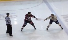 Behold the Most Pathetic Attempt at a Hockey Fight of All-Time (Video)