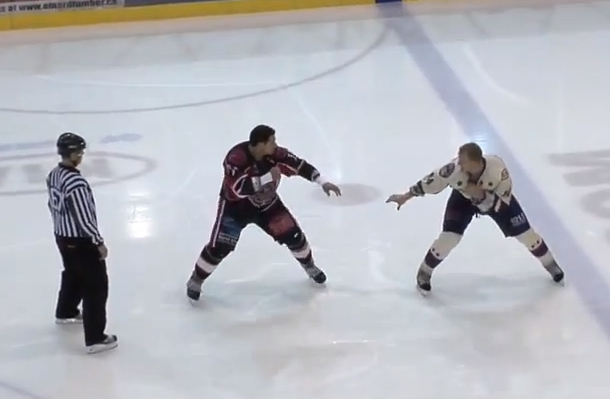 worst hockey fight ever pathetic