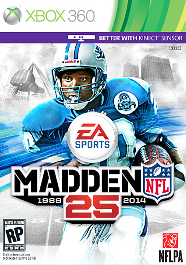 1 Madden NFL 25 (Barry Sanders) - madden nfl covers