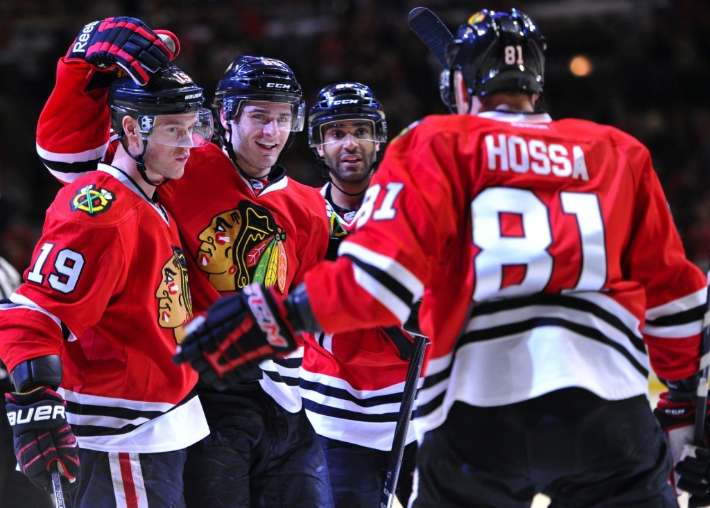 1 chicago blackhawks toews hossa - 2013 stanley cup playoffs