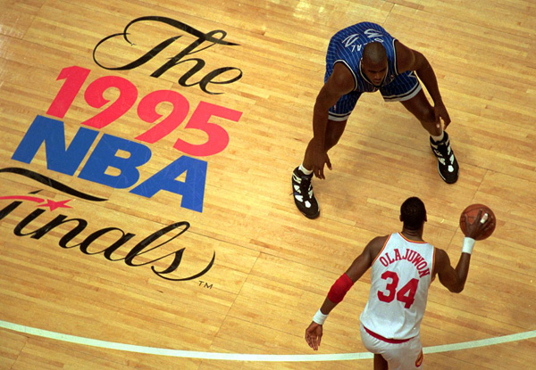 11 rockets magic olajuwon shaq 1995 nba finals - biggest nba playoff upsets