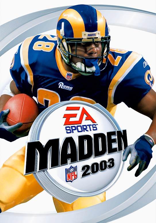 12 Madden NFL 2003 (Marhsall Faulk) - madden nfl covers