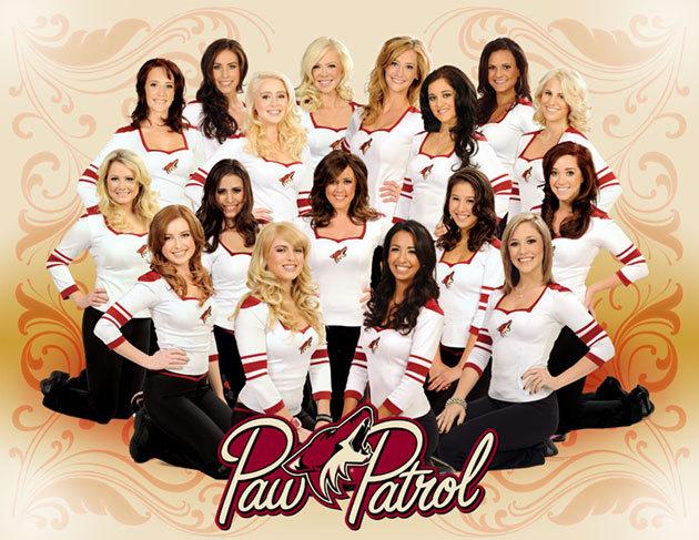 12 phoenix coyotes paw patrol 2 - nhl ice girls and cheerleaders 2013