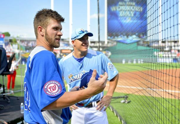 13 bryce harper and mike trout at the all-star game