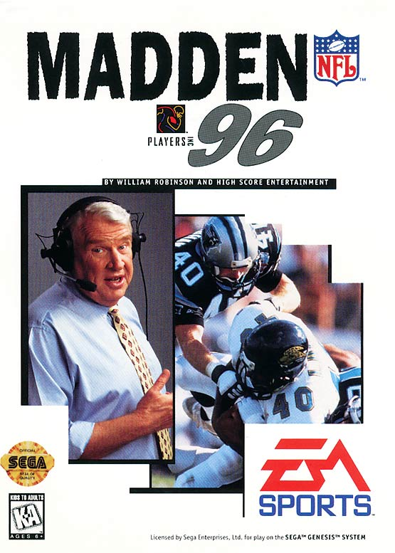 19 Madden NFL 96 - madden nfl covers