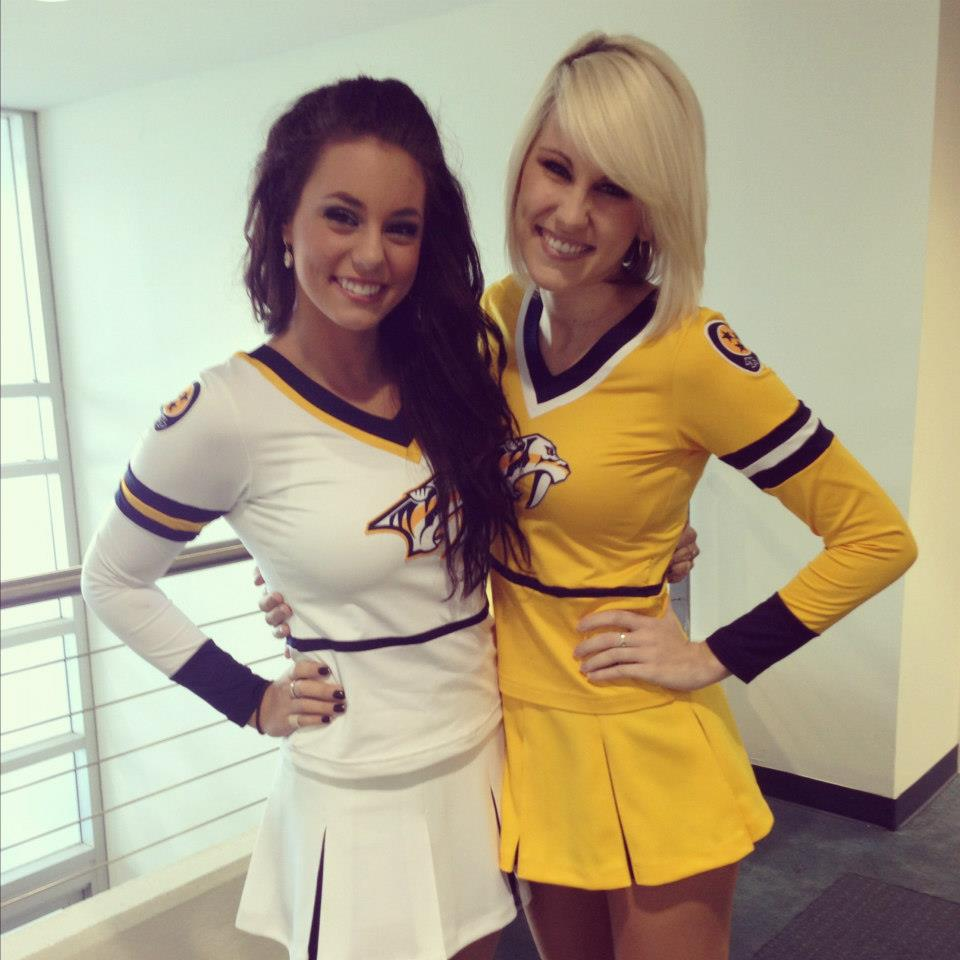 2 nashville predators ice girls - nhl ice girls and cheerleaders 2013