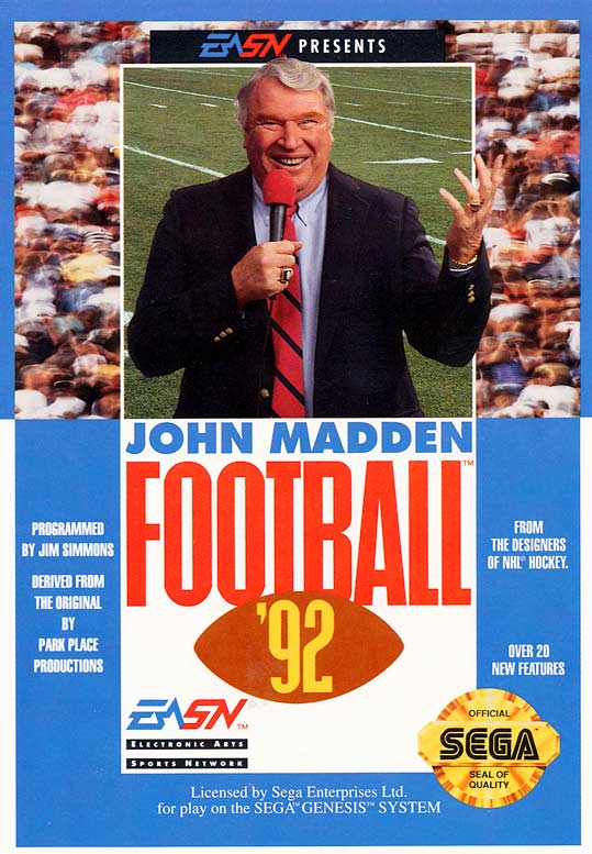 23 John Madden Football 92 - madden nfl covers