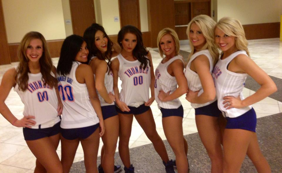 4 oklahoma city thunder girls - hottest cheerleaders 2013 nba playoffs