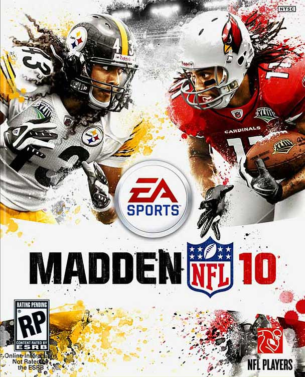 5 Madden NFL 10 (Troy Polamalu and Larry Fitzgerald) - madden nfl covers