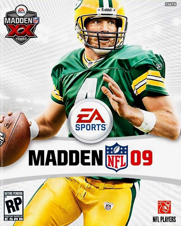 6 Madden NFL 09 (Brett Favre) - madden nfl covers