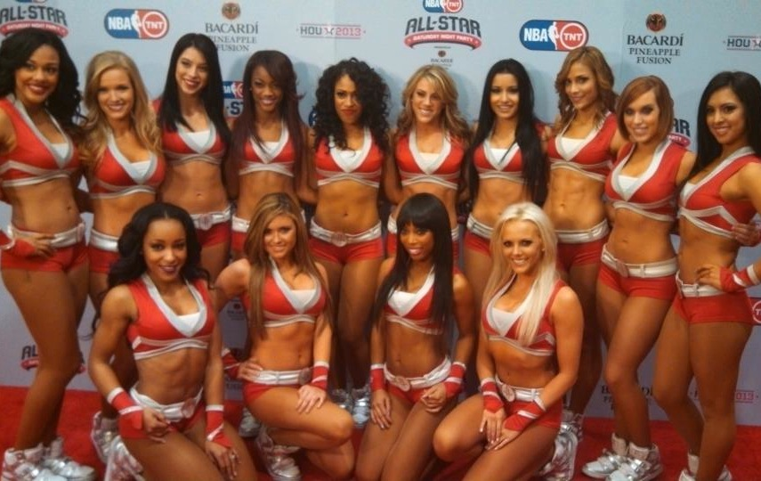 6 houston rockets power dancers - hottest cheerleaders 2013 nba playoffs