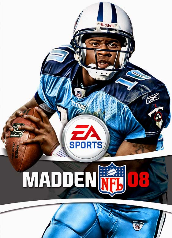 7 Madden NFL 08 (Vince Young) - madden nfl covers