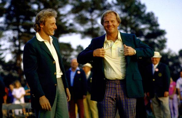 7 jack nicklaus masters green jacket 1986
