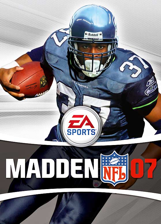8 Madden NFL 07 (Shaun Alexander) - madden nfl covers