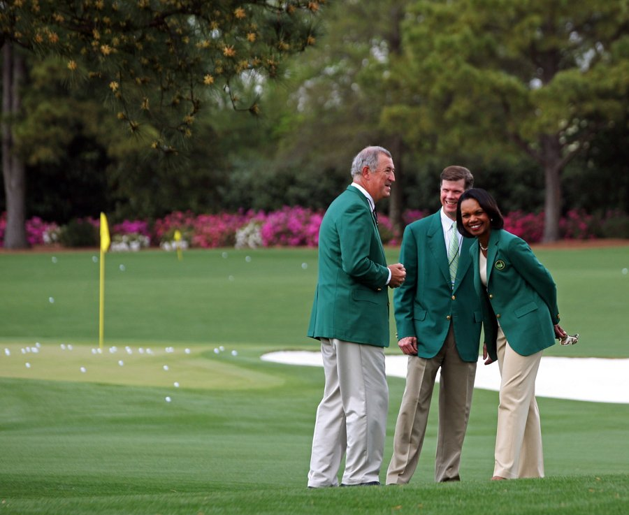 9 condoleezza rice (augusta nationals green jacket)