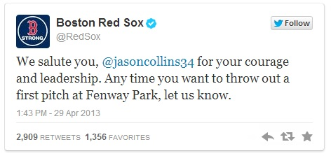 Boston Red Sox Jason Collins gay