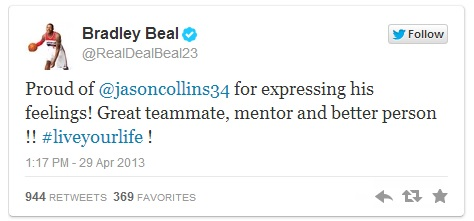 Bradley Beal Jason Collins gay