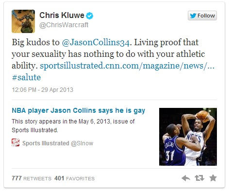 Chris Kluwe Jason Collins gay