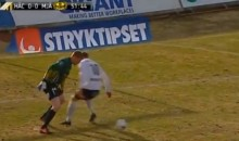 Sweedish Soccer Keeper Nutmegs Opponent (Video)