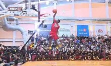 Andrew Wiggins Throws Down a Reverse 360 Through-The-Legs Dunk at JamFest (Video)