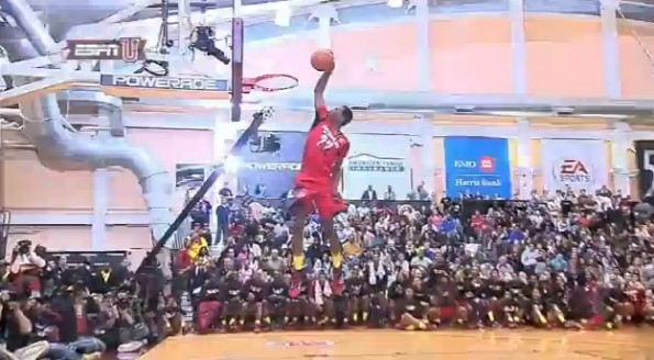 andrew wiggins 360 through the legs reverse dunk