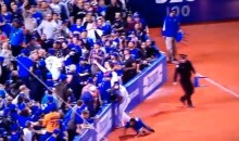 Jays Fan Makes a Terrible Attempt at a Foul Ball (Video)