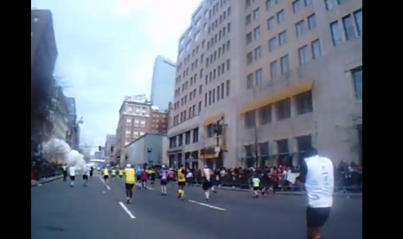 boston marathon bomb explosion runner pov