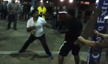 Boxing Fans Fight in the Parking Lot After Alvarez-Trout (Video)