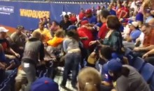 This Brawl Made Preseason Baseball at the Alamodome Less Boring (Video)