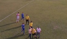 Coach Chokes Referee, Fans Throw Stones at Linesman During Wild Soccer Match in Brazil (Video)