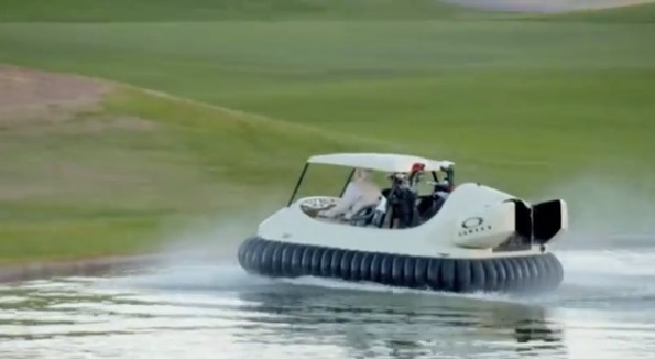 bubba watson golf cart hovercraft
