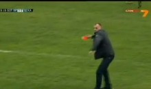 Bulgarian Coach Steals Referee's Cards and Throws Them in Anger (Video)