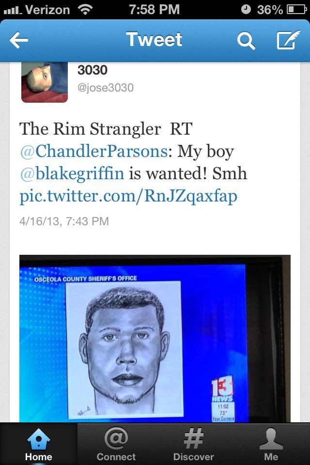 chandler parsons thinks blake griffin looks like wanted man rim strangler