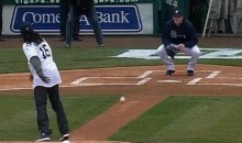NFL Hopeful Denard Robinson Throws One of the Worst Ceremonial First Pitches Ever (Video)
