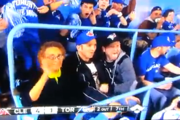dirty fans at blue jays home opener