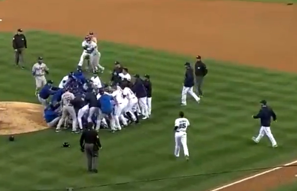 dodgers padres bench-clearing brawl