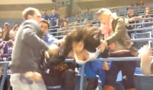 Drunk Girl Fights Old Man at Blue Jays Game and Nearly Has a Wardrobe Malfunction (Video)