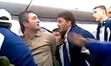 Russian Soccer Team Subdues Unruly Drunk Passanger on Airline Flight (Video)