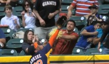 Astros Fan Catches a Home Run With a Popcorn Bucket (Video)