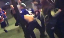 Rangers Fan Gets Beat Up By a Mob of Islanders Fans Outside the Coliseum (Video)