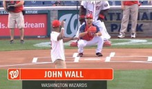 Redemption! John Wall Reaches the Plate With His Latest Ceremonial First Pitch (Video)