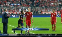 A Frustrated Jordi Alba Throws The Ball at Arjen Robben's Face During UCL Semis (GIF)