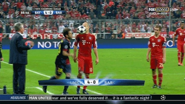 jordi alba throw ball arjen robben face
