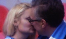 Hot Manchester City Fan Celebrates Big Victory by Making Out With Her Sugar Daddy (GIF)